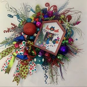 Grinch Stole Christmas Colorful Designer Wreath